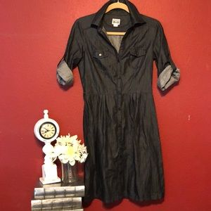 Converse x Target dark chambray shirt dress